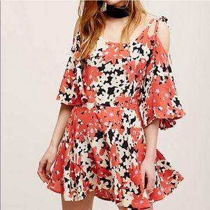Free People FP ONE floral cold shoulder dress